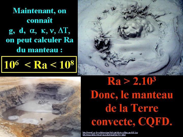 Calcul de la valeur de Ra du manteau terrestre et conclusion