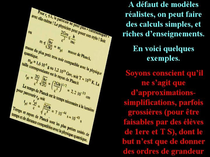 But des calculs simplistes