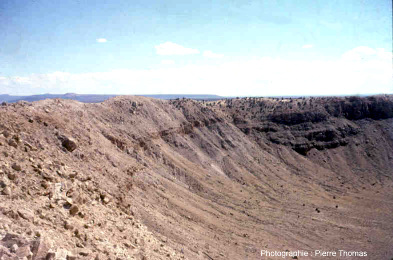Affleurements internes de Meteor Crater (Arizona)
