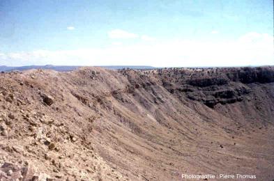 Affleurements internes de Meteor Crater (Arizona)