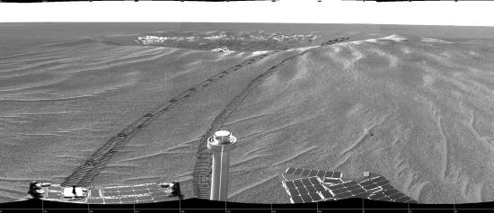 Vue panoramique du cratère Eagle