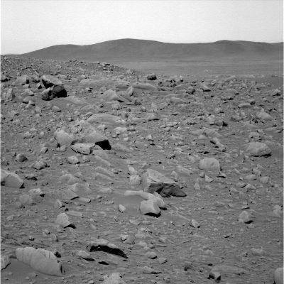 a- Paysage martien observé par Spirit