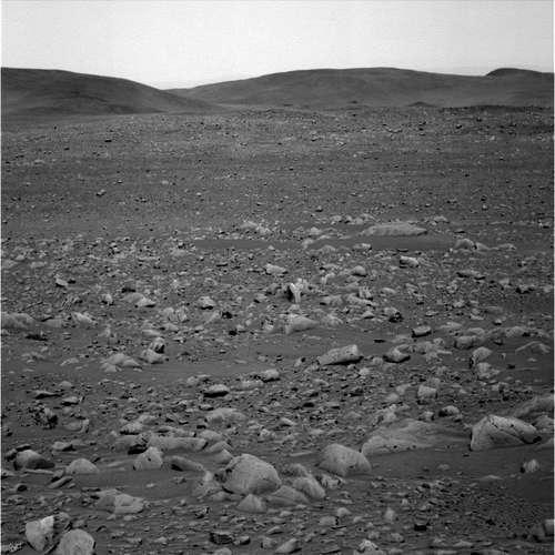 b- Paysage martien observé par Spirit