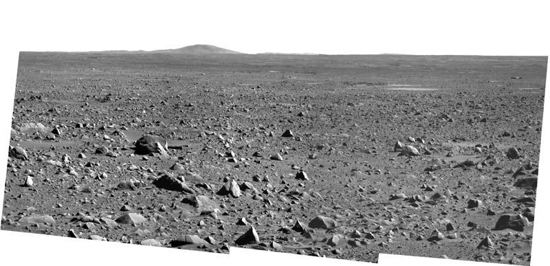 e- Paysage martien observé par Spirit