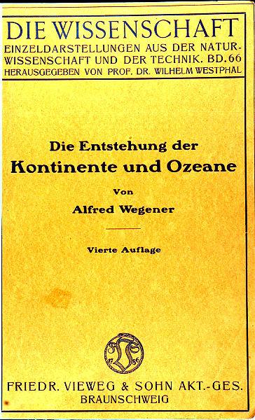 Die Enstehung der Kontinente und Ozeane, couverture édition 1929