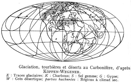 Les traces de la glaciation permo-carbonifère sur les continents actuels