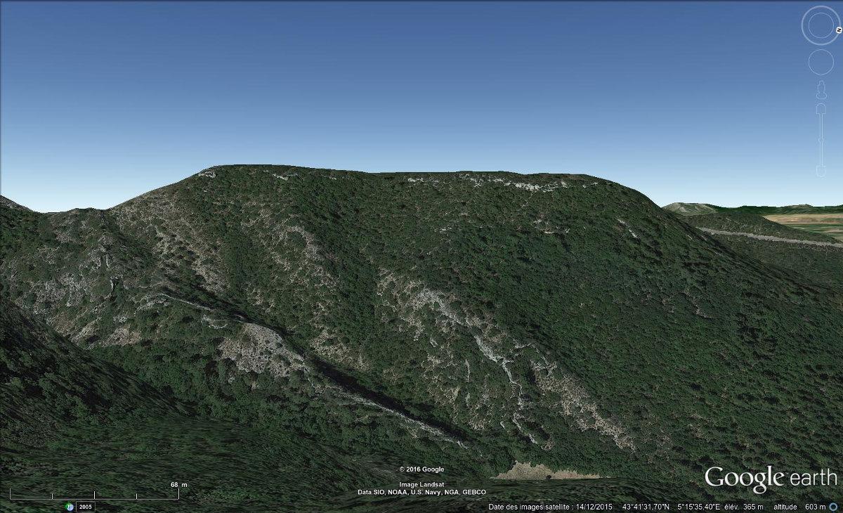 Vue aérienne du plateau de Sèze
