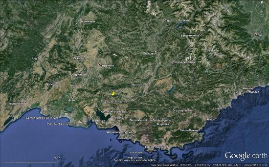 Localisation du plateau de Sèze et de la Chaine des Costes, en Provence