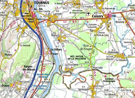 Carte locale du site de Sermoyer et La Truchère-Ratenelle