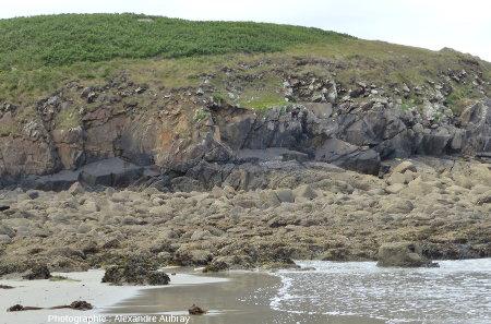 Vue de la partie Sud de la plage de Brenterc'h, Finistère