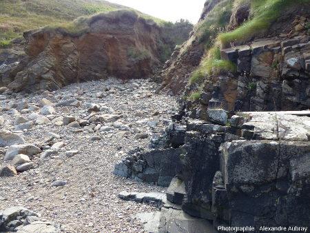 Détail de la partie Sud de la plage de Brenterc'h, Finistère