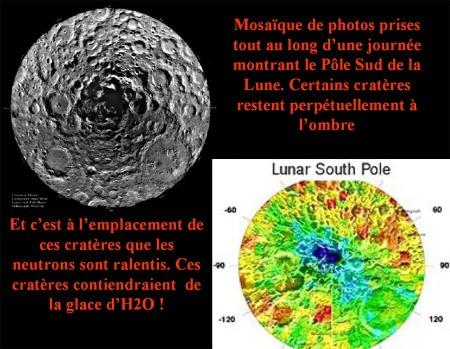 Le pôle Sud lunaire : mosaïques de photographies et étude des neutrons