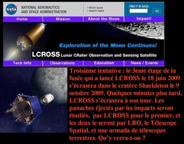 Présentation de la mission LCROSS