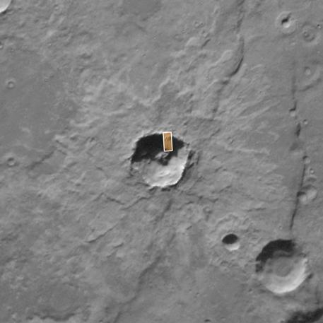 Vieux cratère: Exemple de falaises où l'on voit les figures de ruissellement