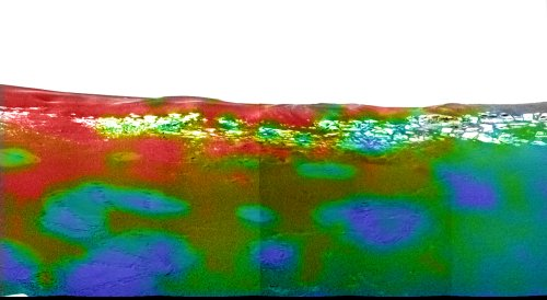 """Image obtenue par le spectromètre infra-rouge (mini-TES) à bord de """"Mars Exploration Rover Opportunity"""""""