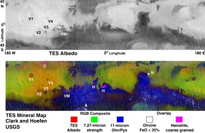 Image colorée obtenue à partir de l'émission thermique et lumineuse