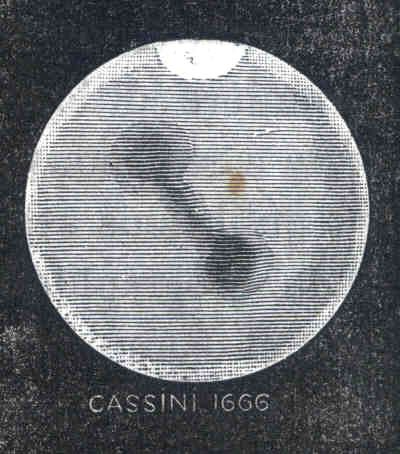 Reproduction du dessin de Cassini de 1666