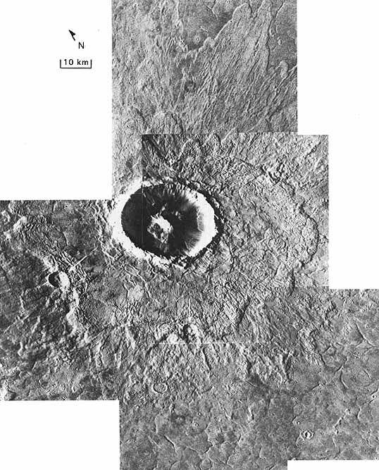 Cratère d'Arandas entouré de ses éjectas [32A28-31, 9A42; 43°N, 14°W]