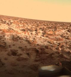 Givre aux abords du site d'atterrissage de Viking Lander 2