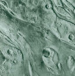 Estuaire (Ares Vallis) où s'est posé Pathfinder