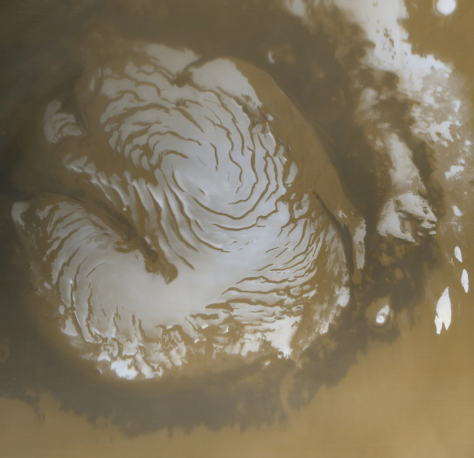 Calotte polaire martienne Nord