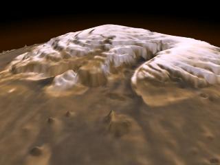 Image en 3D de la calotte polaire martienne Nord