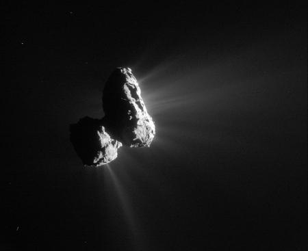 La comète 67P/Churyumov-Gerasimenko mesure 5km dans sa plus grande dimension