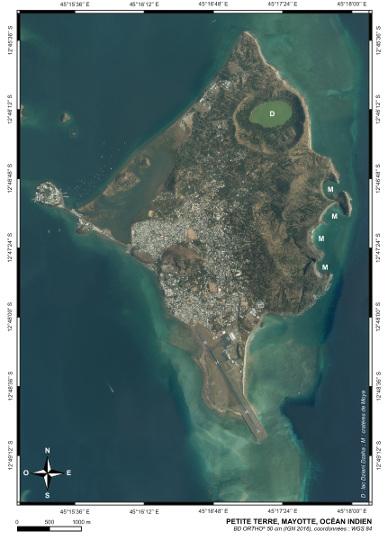 Orthophotographie aérienne de Petite-Terre (Mayotte)