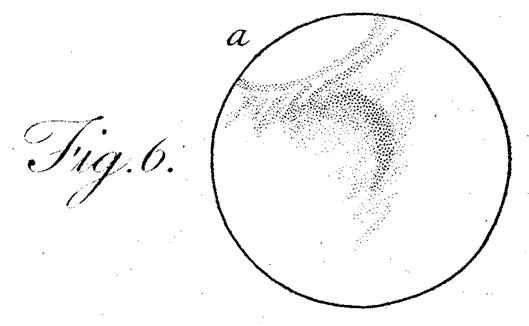 Dessin d'observation de la calotte polaire saisonnière Sud de Mars par William Herschel en 1784