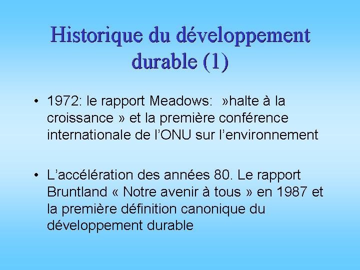 Historique du développement durable (1)