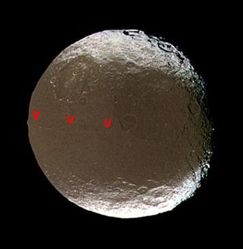 Vue générale de Japet, satellite de Saturne