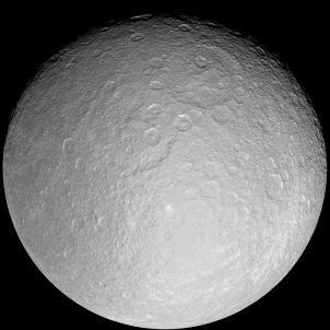 Vue générale de Rhéa, Satellite de Saturne