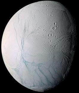 Vue générale d'Encelade, image prise par Cassini