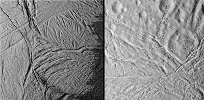 Images rapprochées d'Encelade