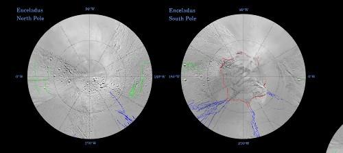 Cartes tectoniques d'Encelade