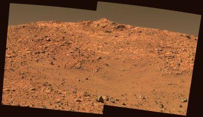 West Spur, objectif de Spirit au sommet des Columbia Hills