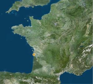 Localisation de Soulac-sur-Mer (Gironde), sur la côte atlantique