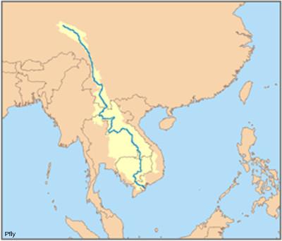 Le Mékong, fleuve majeur du Sud-Est asiatique, est en proie à l'érosion de son delta suite (entre autres) à l'extraction de sable dans le lit du fleuve