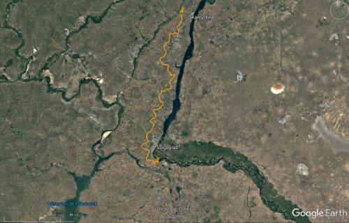Des barrières brise-vent le long de la Volga, au niveau de Volgograd (Russie)
