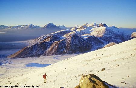 Ascension flanc Sud-Est du Lascar (Chili) en mars 2002