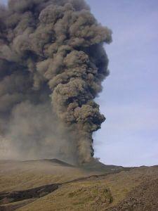 Éruption de l'Etna, vendredi 01 novembre 2002