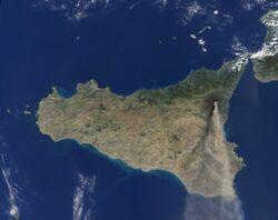 Panache volcanique de l'Etna, dimanche 27 octobre 2002