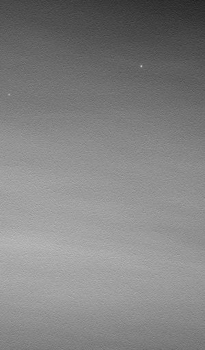 Conjonction entre la Terre et Jupiter photographiée par Opportunity depuis Meridiani Planum à l'aube du sol 687