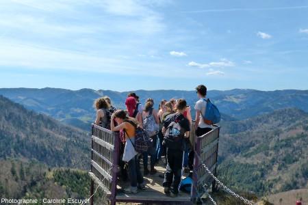 Le belvédère des Fuchsfelsen, avec vue sur la vallée de la Doller
