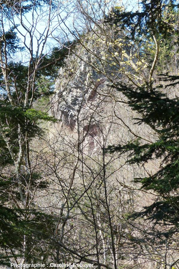 Aperçu des prismes du Rossberggesick depuis le chemin d'accès partant du refuge du Sattelboden