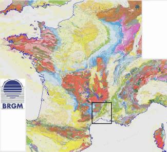 Carte géologique de la France au 1/1 000 000