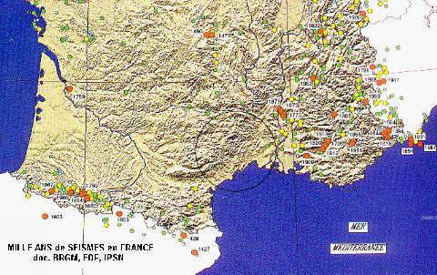 Mille ans de séismes en France.