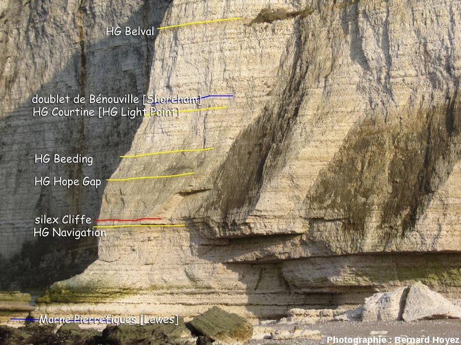 Le Cap de Belval, au cœur d'un monticule, Turonien supérieur et Coniacien inférieur