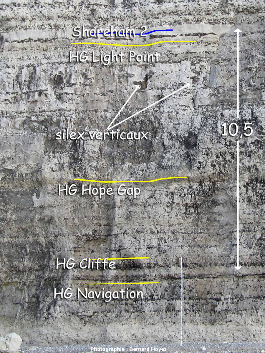 Base de la falaise à environ 300mètres au NE du Roc Vaudieu