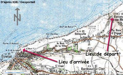 Localisation du lieu de l'excursion